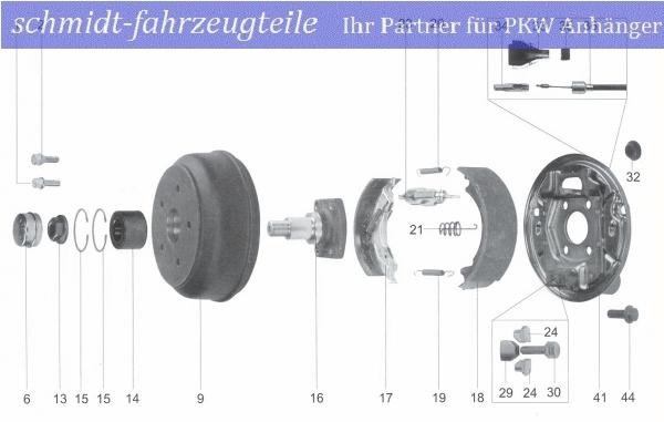 passend für Knott 20-963//1 200x30 Bremsbackensatz BPW S2003-5 RASK
